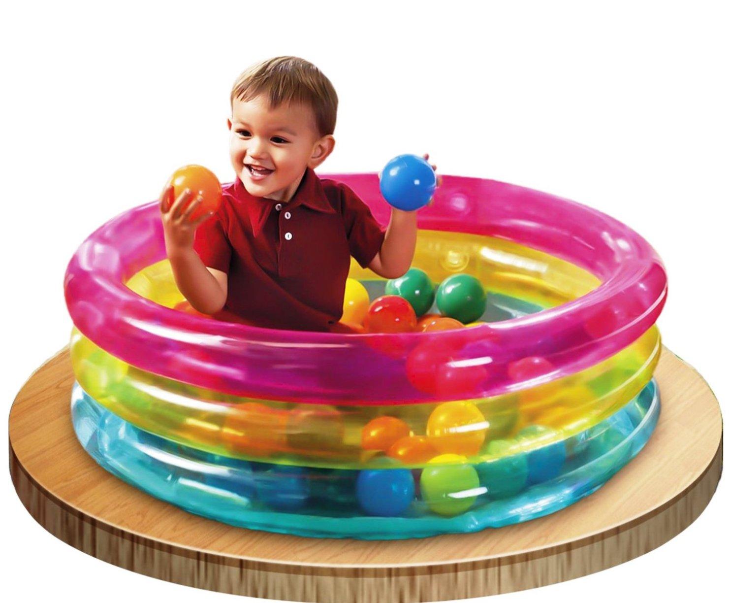 Intex Classic trójpierścieniowy pojemnik na piłki dla niemowląt 48674