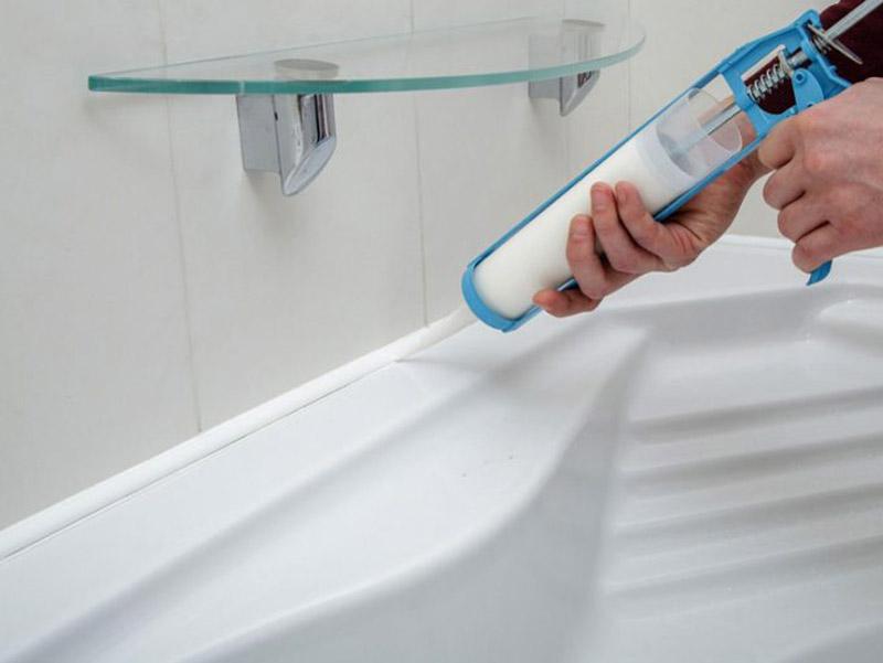 วิธีการปิดผนึกอ่างอาบน้ำ